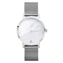 Relógio de quartzo boutique on-line-BAJEETA New Steel Mesh Mulheres Assistir Moda Estilo De Mármore De Quartzo Das Senhoras Relógio De Pulso Elegante Casual Vestido Boutique Relógios Dropship