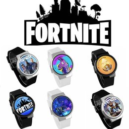 Wholesale electronic children silicone watch - 63 colors Game Fortnite cartoon watch 2018 new teenager party wrist watches big children Jewelry Electronic watches MMA376 5pcs