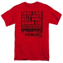 Lista de crianças on-line-Cool Engraçado Camiseta de Alta Qualidade T Shaun Da Lista Morta T-shirt para Homens Mulheres ou Crianças de Manga Curta Tripulação Pescoço Moda
