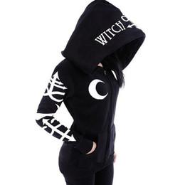 gothic punk black Sconti Felpa harajuku gotica con cappuccio punk stampato  allentato nero con cappuccio tasche 6c084aa709ba