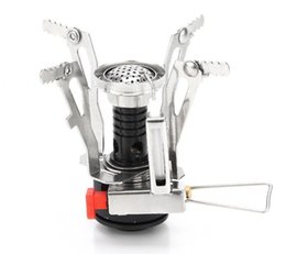 Wholesale Kerosene Camp Stove - Supper Light Portable Mini Burner Folding Camping Survival Cooking Furnace Stove Gas Outdoor with Electronic ignition