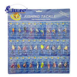Fishing Bait Metal Spoon Bait 30 Pcs set Kit Wobblers Spinner Spoon Lures Fishing Tackle Hook Treble Spinner Crankbaits Pesca Coupons
