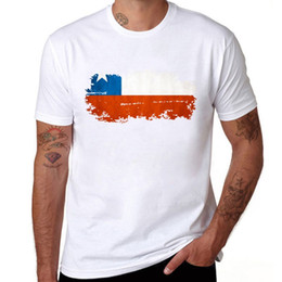 Chile Flag Printing T shirt Men Casual Short Sleeve Round Neck Brand T- shirts Fashion Chile Flag White Men Tops Tees 53553b69c