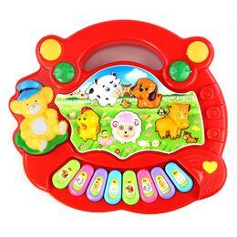 Animal ferme musique jouet en Ligne-2016 Nouveau Utile Populaire Bébé Enfant Animal Farm Piano Musique Jouet Développemental Rouge instrumentos musicales ninos juguete musica