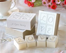 Wholesale Wax Blocks - 1books=4pcs candles lot,smokeless scented creative LOVE book candle wax as valentine's day&wedding personalized favors and gifts