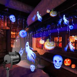 padrões de iluminação exterior Desconto Luzes de Natal do dia das bruxas para a Festa de Feriados UE EUA REINO UNIDO Padrão Paisagem Holofotes Decoração Ao Ar Livre Decoração Do Partido Do Floco De Neve