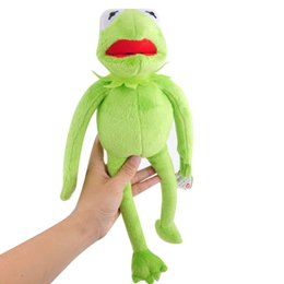 Wholesale stuffed frog animal toy - toys Hot Sale 14'' 40cm Kermit Toys Sesame Street Doll Stuffed Animal Kermit Toy Plush Frog Doll Holiday Gift