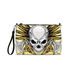 ab18c6828871 Cool Golden Skulls Printed Girls Women Shoulder Bags New Messenger Bags  2018 Fashion PU Leather Luxury Handbags Crossbody Purse
