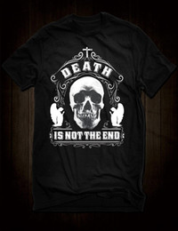 Nueva camiseta Black Death Is Not The End camiseta Gothic Skull Angels Camiseta Dylan Nick Cave para hombre Tops Camisetas de manga corta de algodón y fitness desde fabricantes