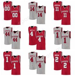81039b7f1 Custom College 4 Dennis Smith Jr Jersey NC State Wolfpack Basketball 2  Torin Dorn 1 Lennard Freeman Jersey Red White 44 David Thompson