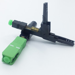 Wholesale Apc Connectors - Wholesale-200 Pieces SC APC Fast Connector Embedded Connector FTTH Tool Cold Fiber Fast Connector