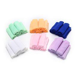 Wholesale Microfiber Cleaning Cloth Blue - Square Soft Microfiber Towel Car Cleaning Wash Clean Cloth Microfiber Care Hand Towels House Cleaning 25x25cm 5pcs