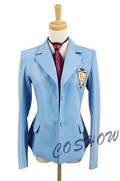 Wholesale Anime School Uniform - Anime Ouran High School Host Club School Uniform and Tie Unisex Cosplay Costume