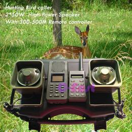 pássaro pardal atacado Desconto 300-500 m de controle remoto 2 * 50 W alto-falante Externo com temporizador on / off Eletrônica mp3 Caça pássaro chamador turquia caça decoys