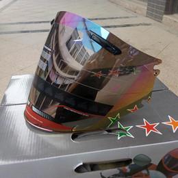 2019 tanque de techo Motocicleta medio visera del casco que se adapta para los cascos de la moto de Arai Lente transparente Color del arco iris negro eligen