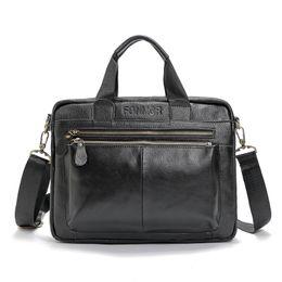 100% cuero genuino bolsos de hombro de los hombres bolsas de mensajero bolsos de cuero de los hombres bolsos de viaje de la vendimia maletín del ordenador portátil desde fabricantes