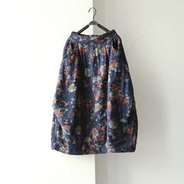 303ff9526f 2019 nuevos estilos de faldas para las mujeres Mujeres Nuevo Invierno  Bolsillos Elásticos Faldas Estampado de