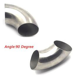 enfriamiento del tubo de calor Rebajas Tubo de escape Spiffy de 3 '' / 76 mm 201 de acero inoxidable con curva de 90 grados