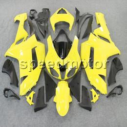2019 carenado amarillo zx 6r 23colors + Gifts yellow motocicleta Carenado para Kawasaki ZX6R 2007 2008 ZX 6R 07 08 ZX-6R Kit de plástico ABS carenado amarillo zx 6r baratos