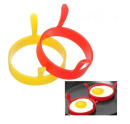 Wholesale fried egg rings free shipping - Kitchen Silicone Egg Tools Fry Frier Oven Poacher egg Poacher Pancake Silicone Egg Poach Rings Mould Mold FREE SHIPPING