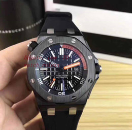 Wholesale Luxury Pvd Mens - Original Box Mens Black pvd luxury 42mm Automatic Mechanical Mens white dial Automatic Sport Dive Mechanical Classic Style day date Watches