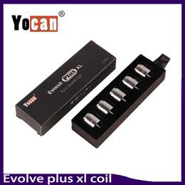Wholesale Quad Kits - Yocan Evolve Plus XL Wax QUAD Coil Quad Quatz Rod Coils With Coil Cap For Evolve Plus XL Dab Pen Kit 0266167-1