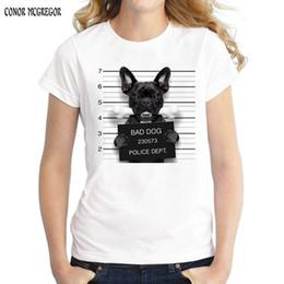 engraçado buldogue Desconto 2018 Novidade Impresso Engraçado Cão Dept Design T shirt Nova moda feminina Verão Branco T-shirt bonito Bulldog Tees tops