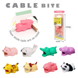 2019 couvre fil Cable Bite USB Cable Saver Protector Couverture Fil Cordon Conception mignonne des animaux Cordon de charge de protection pour iPhone Lightning Type-C promotion couvre fil