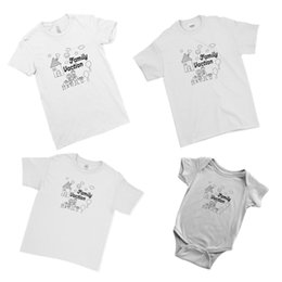 Coppie t-shirt di famiglia online-Family Vacation Family Retro Drawing Matching Family Couple Team T-Shirt Cool Casual orgoglio t shirt uomo Unisex New Fashion tshirt Allentato