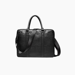 Argentina Al por mayor-TOP POWER PU Leather Men Maletín 15.6 pulgadas ordenador portátil Business Bag Moda hombro Messenger Bag Casual Business Handbag Suministro