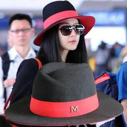 Chegada nova senhora Moda vintage m wide-brimmed fedoras de lã sentiu  chapéu feminino c0ec36c1466
