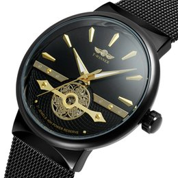 Wholesale Red Winner Watch - Winner Men Watch Automatic Mechanical Mens Watches Top Brand Luxury Sport Army Military Skeleton Steel Band Male Clock Gift 0621
