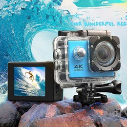 "Wholesale Ccd Video Cameras - 5pcs Action camera F60 Video Camera 4K HD 1080P sport WiFi 2.0"" 170D Helmet Cam underwater go waterproof pro camera 10pcs DHL"