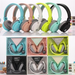 Wholesale Girls Mic - Newest EV-90 Cute Headphones Candy Color Foldable Kids Headset with Mic Earphone for Mp3 player Smartphone Girl Children Xiaomi EAR286