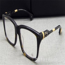 35fc071407e Vintage Fashion Brand Design Full Rim Acetate Oversized Frame Unisex Black  Leopard Myopia Eyewear Optical Vintage Eyeglasses