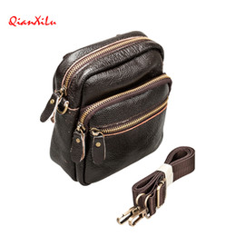 Wholesale new arrival winter shoulders handbag - 2017 Winter New Arrival Genuine Leather Men's Small Bag Shoulder Bags For Men Handbags Messenger Cross body Bag Portfolio