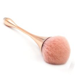 Pinceles de maquillaje rosa manijas online-Solo grande cepillo de maquillaje universal rubor polvo de la cara polvo suelto fundación color rosa mango cosmético grande cepillo de maquillaje