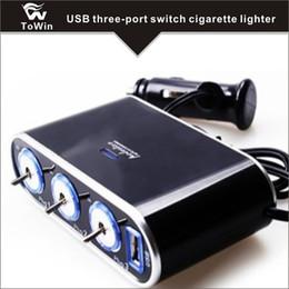 Üç Soket Araç Çakmak Splitter Çok Fonksiyonlu üç Anahtarları ile USB şarj Güç Adaptörü USB şarj Dayanıklı nereden