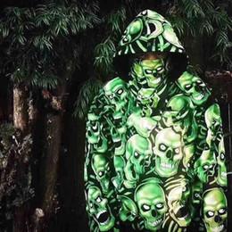 Wholesale Men S Sweaters Skull - 18SS SKULL PILE HOODED Luminous SKULL Sweater Men Women Casual Fashion Sport Hip-hop Streetwear Hoodied Sweatshirt HFLSWY089