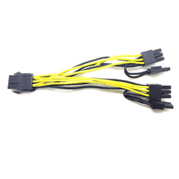 power x video cable Coupons - Marsnaska 6-pin PCI Express to 2 x PCIe 8 (6+2) pin Motherboard Graphics Video Card PCI-e GPU VGA Splitter Hub Power Cable