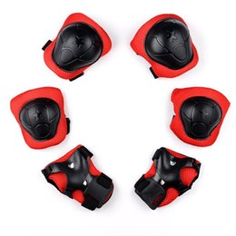 Wholesale kids skating pads - Kid Safety Protect Tools High End Knee Elbow Wrist Protective Guard Pad For Children Skating Skateboard Support Sports 10sg Y