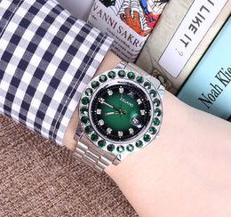Reloj de cuarzo de los hombres de lujo de moda con diamantes deslumbramiento color cara reloj de los hombres de negocios reloj genuino fabricantes de ventas directas desde fabricantes