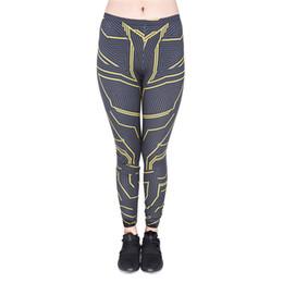 Le ragazze sfilavano pantaloni online-Ragazza Leggings Strips 3D Graphic Print Donna Elastico attillato Pantaloni Capris Lady Casual Jeggings Sport Yoga Pantaloni divertenti (GL44647)