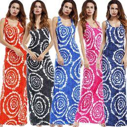 Argentina desgaste de las mujeres, eaby, vestido delgado nuevo estilo occidental, falda larga, vestido sash impreso 2018 hojas Suministro