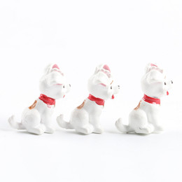 Wholesale home dogs - Lovely Spotted Dog Ornament Cartoon Animals Miniatures Home Table Decorations Diy Novelty Gift Toy Natural Resin 0 6mj cc