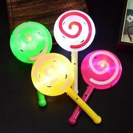 palos de paletas Rebajas Juguetes de destello únicos de la luz para los niños Luminous Cartoon piruleta Juguetes de la luz Stick regalos de Navidad compras rápidas jc-087