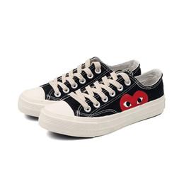 2019 nuove donne formano scarpe 2018 New Sell well canvas Sneakers casual quattro stagioni scarpe donna Fashion Lace-up traspirante Classico a forma di cuore Scarpe bianche nuove donne formano scarpe economici