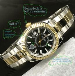 trabalho super Desconto 20 cores Relógio de luxo 2813 Movimento Mecânico Automático SKY 326934 aço inoxidável Mostrador Preto Pequeno Trabalho de Discagem Super mens Relógios 42 MM