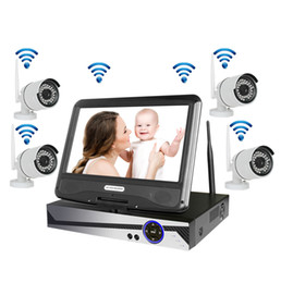 """Wholesale Security Cameras 1tb - Wireless Surveillance System Network 10.1"""" LCD Monitor NVR Recorder Wifi Kit 4CH 720P HD Video Inputs Security Camera with 1TB HDD"""