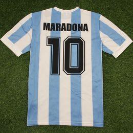 Классические качественные рубашки онлайн-1986 Аргентина ретро классика винтаж Джерси МАРАДОНА Джерси футбол Джерси Camisa de futebol футболка Футболка для взрослых ТАИЛАНД КАЧЕСТВО